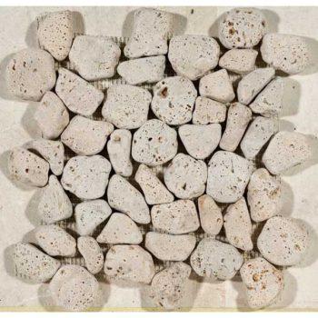 Beige Travertin Mozaïek – Aegean Pebbles, Pietra Kaikos