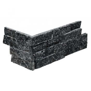 Stone Panel Hoekstuk Black Quarzite