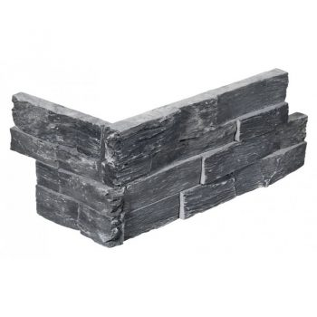 Stone Panel Hoekstuk Black Slate