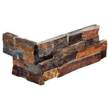 Stone Panel Hoekstuk Rusty Slate